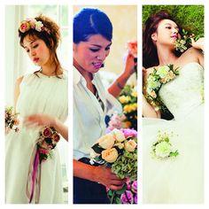 アートフラワーによるお花替えで、ドレスをもっと自分らしく。