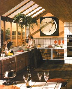 1980s Kitchen Decor. Best of 80s design - most not this well thought out.