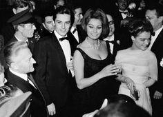 Alain Delon, Sophia Loren, Romy Schneider