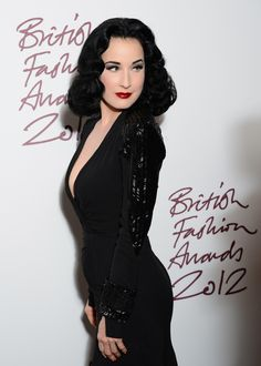 dita von teese fashion | Dita Von Teese Photos - British Fashion Awards 2012 - Inside Arrivals ...