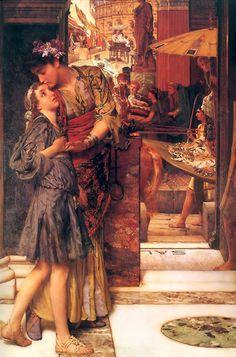Alma-Tadema  Paintings-The Parting Kiss, 1882
