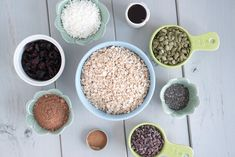 Ingredients in this very easy to make Chocolate Chia Granola