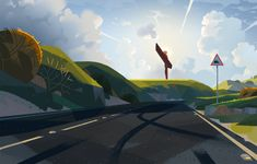 THE ROAD TO RIO - Colin Bigelow Landscape Drawings, Landscapes, Angel Of The North, Environmental Art, Illustration Art, Illustrations, Statue Of Liberty, Rio, Fighter Jets