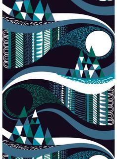 Taivasalla ekopuuvilla kangas Sanna Annukka marimekko