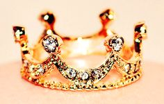 Gold Crown Ring http://www.loveitsomuch.com/