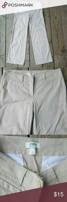 """Ann Taylor LOFT pants Tan, size 4, 31"""" inseam,  cotton/spandex blend LOFT Pants Boot Cut & Flare"""