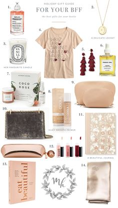 Monika Gibbs has great holiday gift guides! Birthday Gifts For Best Friend, Best Friend Gifts, Best Gifts, Classy Diy Gifts, Cute Gifts, Gifts For Girls, Girl Gifts, Gifts For Mom, Cool Gifts For Women