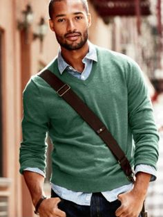 need a green vneck sweater
