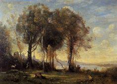 Jean Baptiste Camille Corot - Goatherds On The Borromean Islands [1018x734]