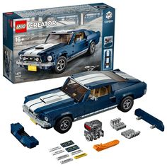 Buy LEGO Creator - Ford Mustang at Mighty Ape NZ. Build and customise your very own Ford Mustang! Discover the magic of an iconic American muscle car with the LEGO® Creator Ford Mustang, . Ford Mustang Gt, Mustang Cars, Ford Gt, Porsche 911 Gt3, Lego Porsche, Lego Technic, Lego Duplo, Lego Winter, Lego Creator