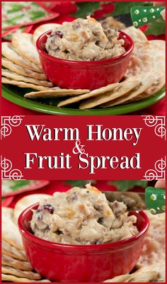 this amazing holiday fruit spread has a cream cheese base thats perfect for putting on crackers