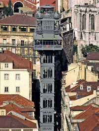 Eevador de Santa Justa is a monumental neo-gothic wrought-iron elevator, designed by one of Gustave Eiffel's disciples, offering a panoramic view of Lisbon.