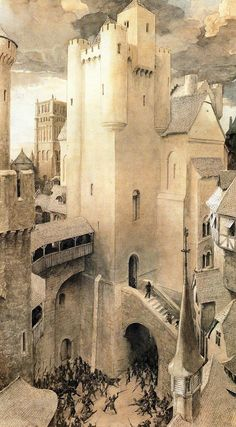 "bayazeth: """"Castles, illustrated by Alan Lee "" """