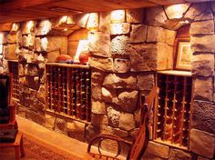 """Nathan Giffin of Vertical Artisans created """"stones"""" out of concrete at a wine cellar to give in an old world feel."""
