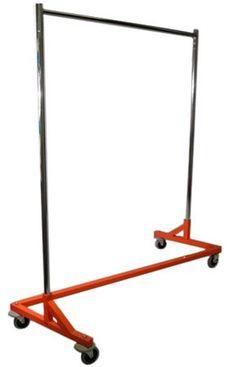 Amazon.com: 400LB LOAD Commercial Grade Rolling, Z Rack Garment Rack with Nesting Orange Base: Home & Kitchen