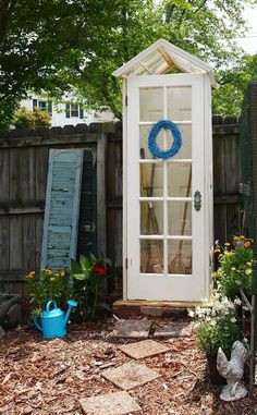 Small Storage Sheds • Ideas  Projects! With lots of Tutorials! Including this cute diy garden shed from 'a cultivated nest'.