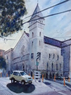"Street Maintenance SF Watercolor Original Painting 11"" x 15""  NOT A PRINT  | eBay"