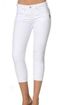 161431c2107 Silver Jeans Co. High Capri - White