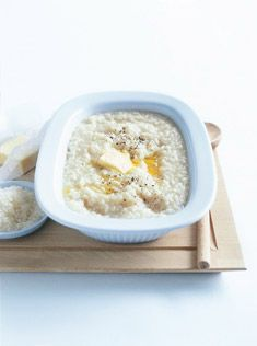 Basic baked risotto technique from Donna Hay - lots of variations to try too Baked Risotto Recipes, Oven Baked Risotto, Gourmet Recipes, Cooking Recipes, Dessert Recipes, Risotto Dishes, Donna Hay Recipes, Food Inspiration, Prosciutto