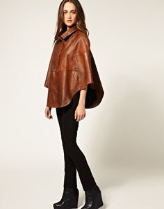 Leather cape.
