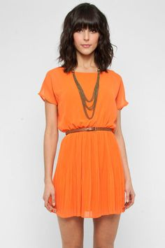 Tangerine belted dress :)
