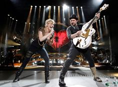 Sugarland's Jennifer Nettles and Kristian Bush perform during their, The Incredible Machine, tour Saturday May 2010 at the PNC Bank A. Country Bands, Country Music, Jennifer Nettles, Role Models, Musicals, Tv Shows, The Incredibles, Stars, People
