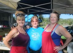 Jacque Jabs/Special to the Record Searchlight.  Left to right: Debbie Nelson of Anderson, Terry Skatell of Shasta Lake and April Gollardo of Igo attend the Anderson summer concert in the park on Aug. 31 at Anderson River Park. Go to www.redding.com for more Scene! event photos.