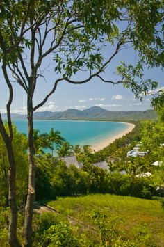 Four Mile Beach and Trinity Bay view from Flagstaff Hill lookout, Port Douglas, North Coast, Queensland, Australia Queensland Australia, Australia Travel, North Coast, Beach Photos, River, Mountains, Country, Outdoor, Outdoors