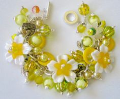 Mother's Day Yellow Charm Bracelet eBay ID Contact - kathieaug