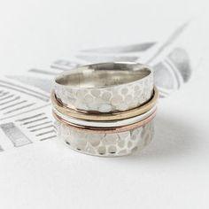 Karma Silver Spinning Ring - rings
