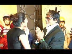 Amitabh Bachchan & Anushka Sharma at PK movie's success party.