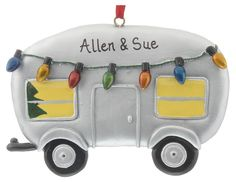 Personalized Trailer Ornament...this would be an amazing way to start a Christmas proposal. ;)