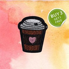 Iron On Coffee Patch Food Set Patches Iron On Patch 3 Patches Free 1