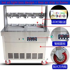 1890.00$  Buy here - http://alizdp.shopchina.info/1/go.php?t=32817296312 - free ship Stainless steel double pot ten barrels fried ice cream roll machine fried ice porridge machine fried yogurt machine  1890.00$ #magazineonlinebeautiful