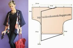 Links to multiple tunic designs. Use the English translation for approximate directions. Moldes Moda por Medida: TÚNICA COM BICOS Sewing Hacks, Sewing Tutorials, Sewing Crafts, Sewing Projects, Sewing Patterns Free, Clothing Patterns, Sewing Blouses, Tunic Designs, Pattern Making