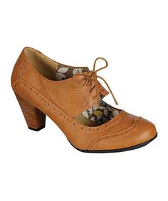 Look what I found on #zulily! Refresh Tan Amany Oxford Pump by Refresh #zulilyfinds