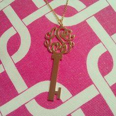 monogram house key