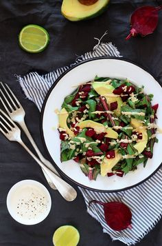 Beet Greens with Avocado and Creamy Tahini Dressing Recipe | HelloNatural.co --This world is really awesome. The woman who make our chocolate think you're awesome, too. Our flavorful chocolate is organic and fair trade certified. We're Peruvian Chocolate. Order some today on Amazon!http://www.amazon.com/gp/product/B00725K254