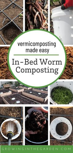 Vermicomposting bins built into your garden simplifies worm composting. The worms live & make worm castings right in the garden beds. Backyard Vegetable Gardens, Garden Compost, Garden Soil, Garden Beds, Greenhouse Gardening, Composting Process, Worm Composting, Gardening For Beginners, Gardening Tips
