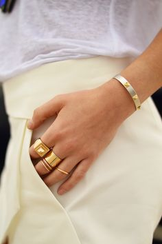 gold ring stacks
