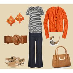 Orange and Navy -  Auburn Tailgating Outfit Ideas