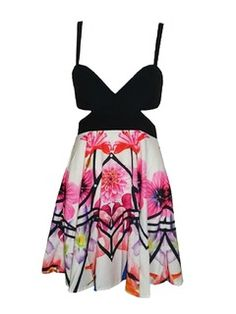 Shop Floral Cut Out Swing Dress from choies.com .Free shipping Worldwide.