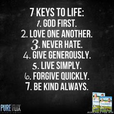 Encouragement - 7 Keys to Life - Pure Flix - Christian movies - Christian Quotes - #ChristianQuotes #Bible #God #Life #PureFlix  #ChristianMovies  www.PureFlix.com