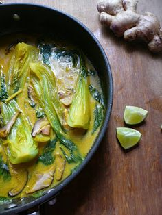 Bok Choy in Tumeric and Coconut Milk
