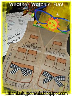 What's Up With The Weather? Weather Watcher vest, super cute!!!