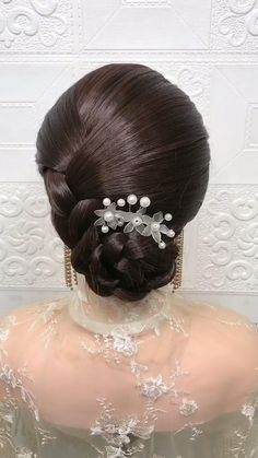 Hairdo For Long Hair, Bun Hairstyles For Long Hair, Bride Hairstyles, Headband Hairstyles, Hairstyle Braid, Beautiful Hairstyles, Quick Hairstyles, Party Hairstyles, Updo