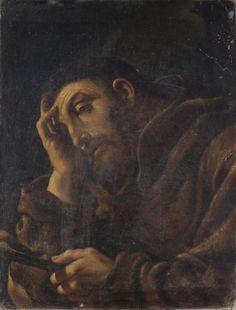 https://flic.kr/p/qvA8Cs | Saint Francis | 17th century. Oil on canvas. 64,5 x 49 cm. Private collection.