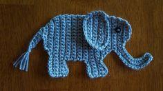 Crochet Elephant Applique Pattern Jungle Nursery by CrochetHey