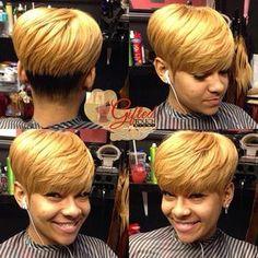 Black Short Cut Styl - January 16 2019 at Short Quick Weave Hairstyles, Black Women Short Hairstyles, Cute Hairstyles For Short Hair, Hairstyles 2016, Pixie Hairstyles, Short Sassy Hair, Short Grey Hair, Short Hair Cuts, Short Hair Styles