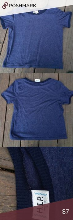Navy Blue Simple Tshirt Super cute and comfortable navy blue tshirt. I don't remember where I got this but it is from the brand H.I.P. Classic basic tee that you can't go wrong with. H.I.P. Tops Tees - Short Sleeve